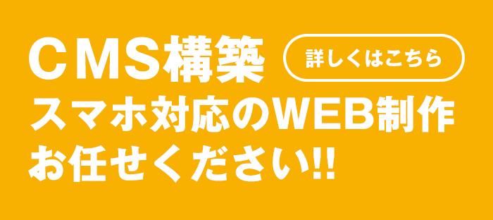 CMS構築、スマホ対応のWEB制作お任せください!!